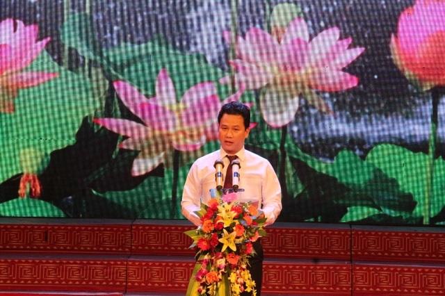 Ông Đặng Quốc Khánh, Chủ tịch UBND tỉnh Hà Tĩnh phát biểu tại buổi lễ