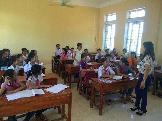 Hiện đa số các em học sinh đã được đến trường