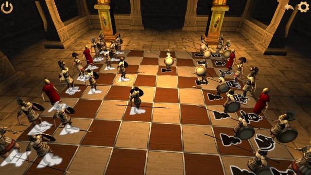 Battle Chess 3D với đồ họa hấp dẫn, mỗi quân cờ được hiển thị dưới dạng quân lính khác nhau