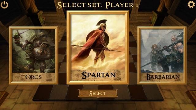 Người chơi có thể lựa chọn một trong 5 loại quân để hiển thị trên quân cờ