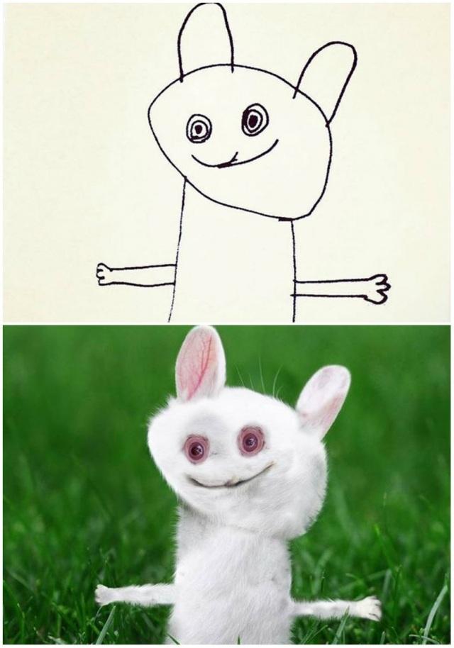 Một chú thỏ trắng đáng yêu?