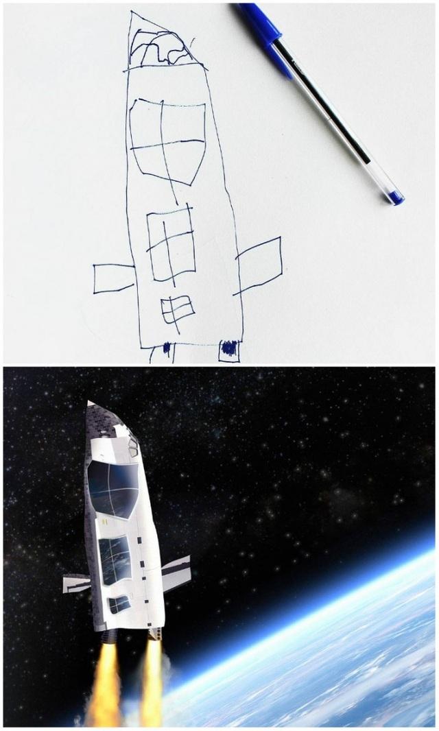 Một chiếc tàu vũ trụ phóng lên không gian