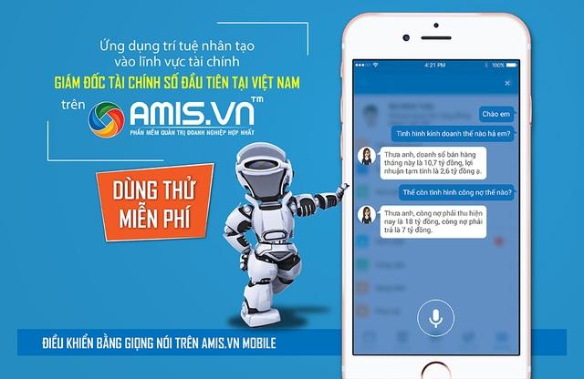 CEO chỉ cần hỏi, AMIS.VN sẽ tư vấn chi tiết và chính xác như một Giám đốc tài chính thực sự