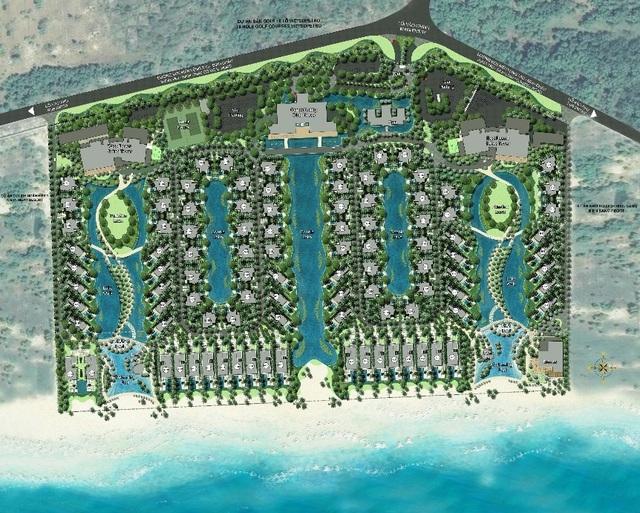 The Hampton Hồ Tràm với mật độ xây dựng thấp, mang lại không gian thoáng đãng cho khách hàng.