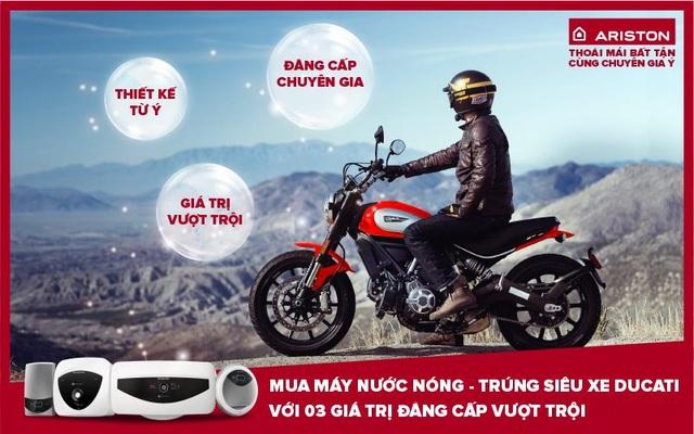 Mua máy nước nóng, trúng ngay siêu xe Ducati - 1