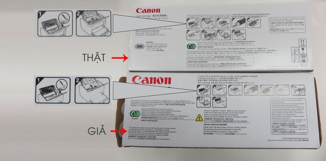 Hình ảnh và chữ trên vỏ hộp chính hãng được in sắc nét, không bị nhòe, lem màu.