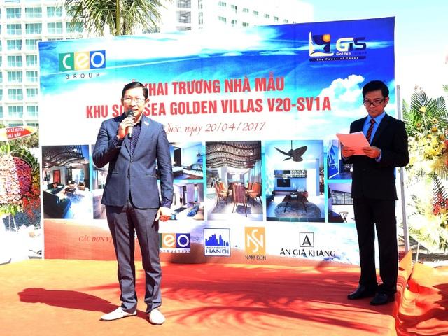 Ông Trần Đăng Khoa phát biểu tại buổi lễ khánh thành