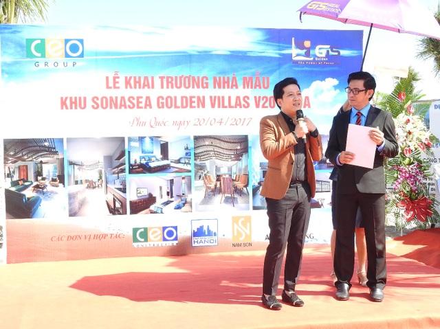 Nghệ sĩ Trường Giang chia sẻ tại lễ khai trương biệt thự mẫu