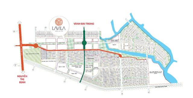 Lavila Đông Sài Gòn nằm ngay mặt tiền hai trục đường chính, dễ dàng cho việc kinh doanh và cho thuê