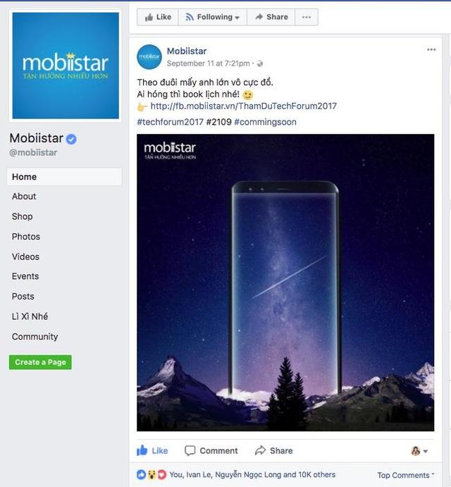 Điện thoại 4 camera và màn hình vô cực của Mobiistar chắc chắn sẽ là flagship của hãng trong năm nay.