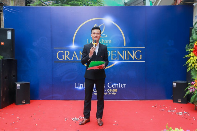 CEO&Founder Trần Minh Tân phát biểu khai trương center