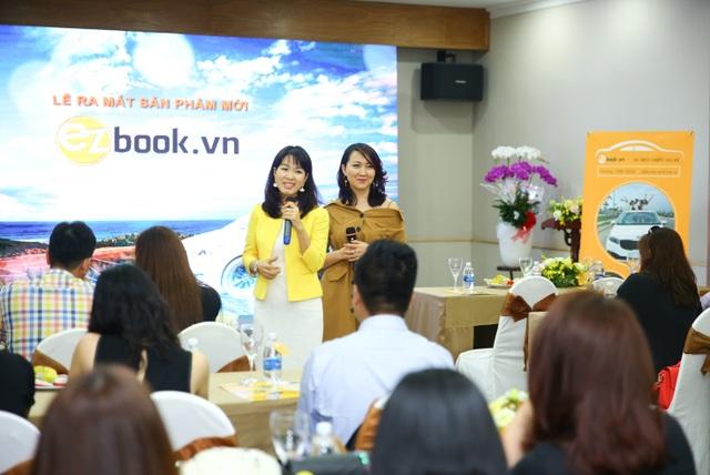 Chị Lê Thị Thu Trang – CEO Ezbook.vn và đồng sáng lập chị Trần Thị Huyền Ngân (phải)