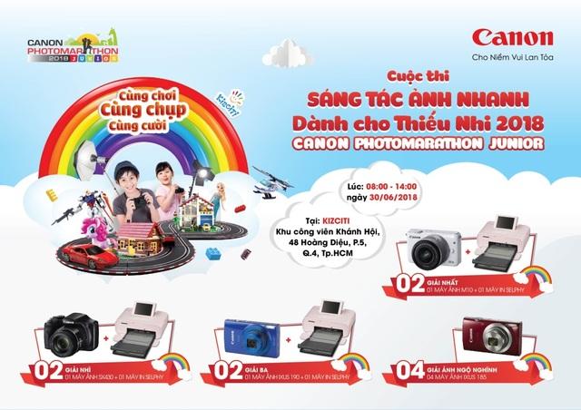 Canon PhotoMarathon Junior là sân chơi hấp dẫn cho các bé trong dịp hè 2018 này.