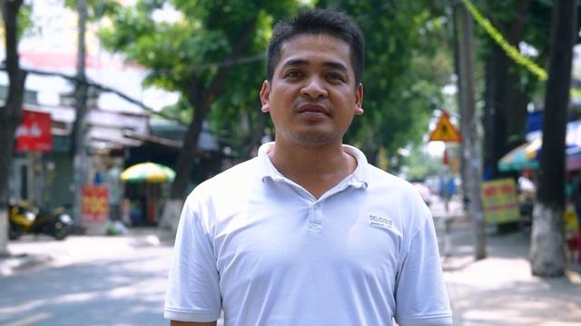 Anh Nguyễn Thanh Hiếu, tài xế thuộc Công ty Vận tải tại Thủ Đức - Tp. HCM