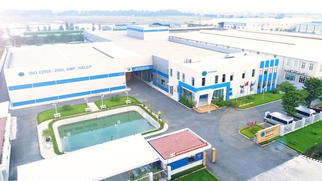 Toàn cảnh nhà máy sản xuất của Nutricare ở khu công nghiệp Thuận Thành 3, Thanh Khương, Thuận Thành, Bắc Ninh.