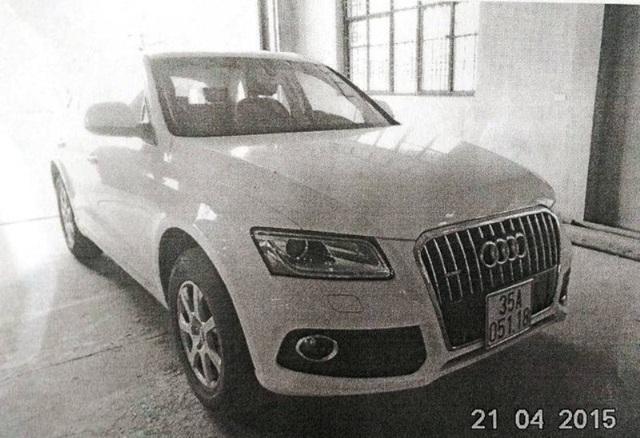 Biển thật được cấp cho xe Audi do một phụ nữ ở thành phố Tam Điệp, Ninh Bình đăng ký.