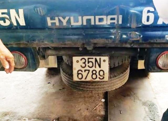 Biển thật được cấp cho xe ô tô tải Hyundai