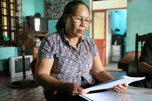 Bà Đỗ Thị Đào bức xúc trước cách làm việc của Chi cục THADS huyện Yên Khánh, Ninh Bình