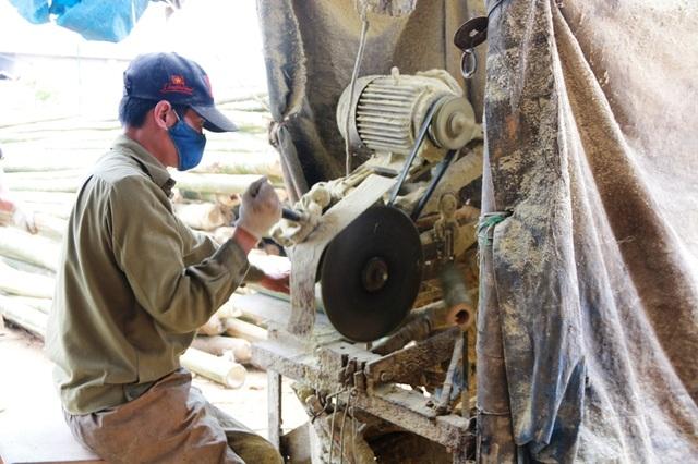 Người điều khiển máy cắt phải chọn lựa từng khúc luồng đẹp, không bị sâu đục thân... Làm công đoạn cắt luồng đòi hỏi người làm phải có sức khỏe, chịu được tiếng ồn và bụi từ việc cưa cắt luồng. Anh Nam (36 tuổi), ở Mai Châu, Hòa Bình chia sẻ: Mỗi ngày làm cũng được công từ 200 - 300 nghìn, ở miền núi chẳng có việc gì làm, đi làm đũa còn có thêm thu nhập mà lại cao hơn các nghề khác nhiều.