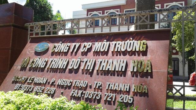 Cty môi trường và công trình đô thị Thanh Hóa là một trong những đơn vị để xảy ra sai phạm trong thu chi ngân sách năm 2014-2015