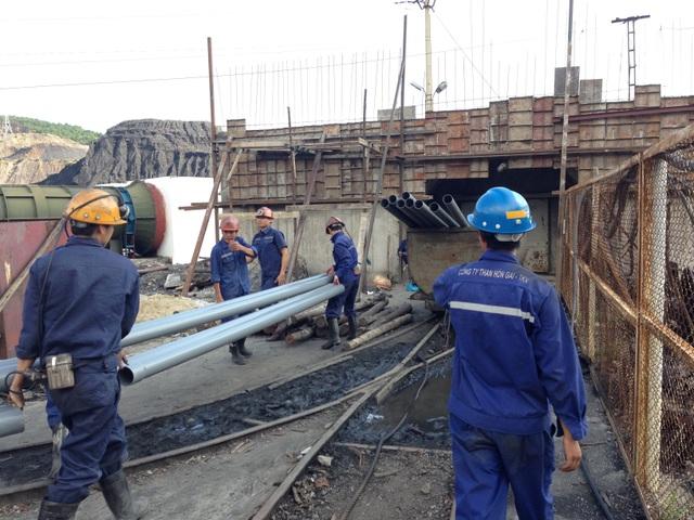 Hiện trường một vụ tai nạn lao động xảy ra tại Công ty than Hòn Gai trước đó (ảnh CTV)