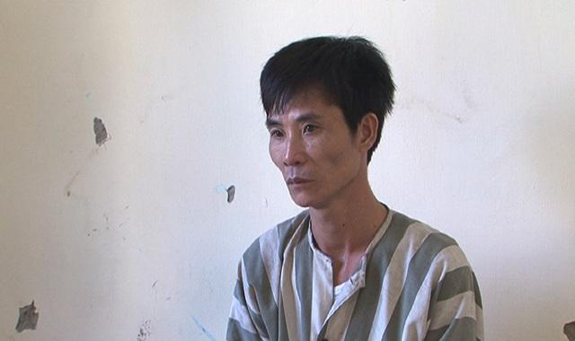 Trịnh Thanh Tùng tại cơ quan công an (ảnh Công an cung cấp)