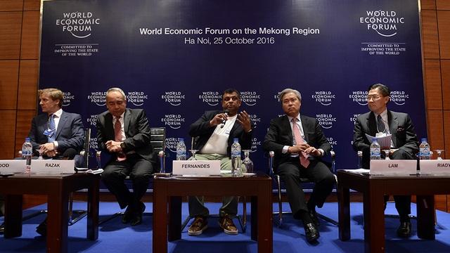 Diễn đàn WEF-Mekong tại Hà Nội đã công bố việc chính thức thành lập Hội đồng kinh doanh khu vực ASEAN (Ảnh: Mạnh Thắng)