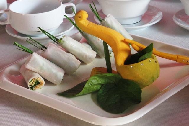 Các món ăn được các đầu bếp chế biến tại cuộc thi
