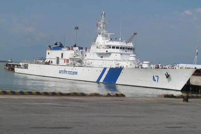 Sáng 23/10, Tàu SAMRAT của Lực lượng bảo vệ bờ biển Ấn Độ cùng 140 sĩ quan và thủy thủ đã cập cảng Tiên Sa, bắt đầu chuyến thăm hữu nghị Đà Nẵng.