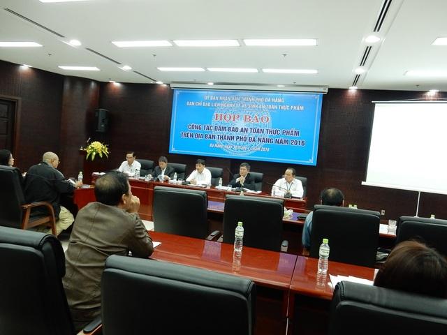 UBND TP Đà Nẵng họp báo công tác đảm bảo an toàn thực phẩm trên địa bàn thành phố năm 2016