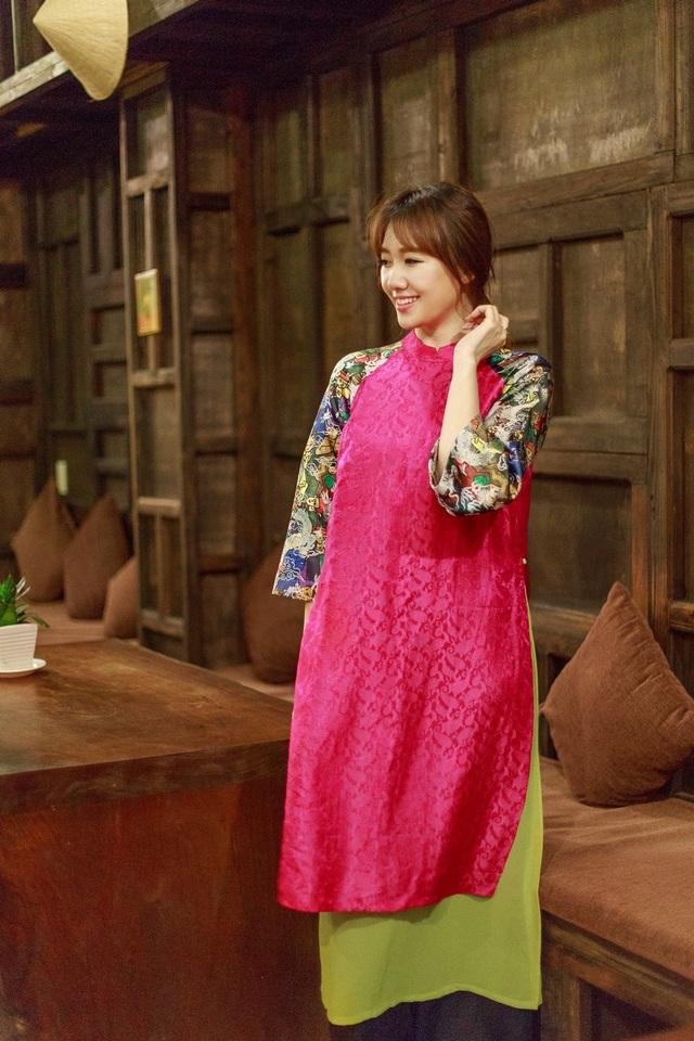 Hari Won tung ảnh áo dài cách tân đón Trung thu - 7