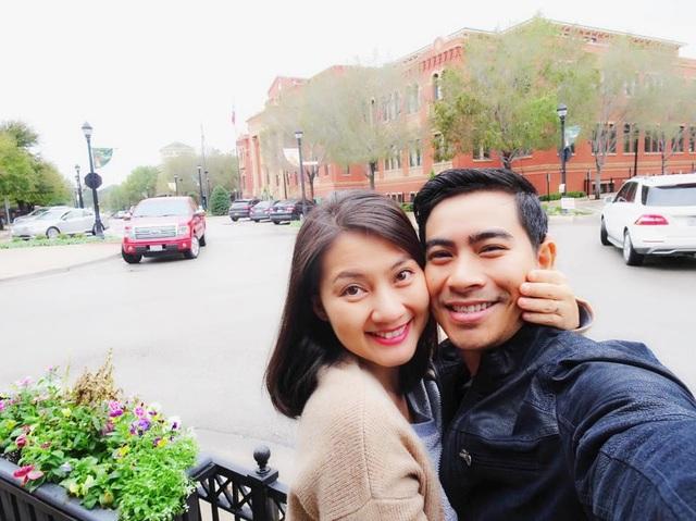 Ngọc Lan và chồng đang du lịch tại Mỹ