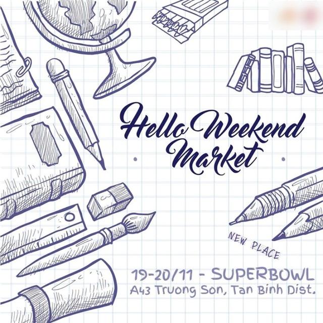 Hello Weekend Market tuần này sẽ diễn ra tại Superbowl, quận Tân Bình.