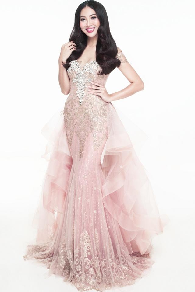 Hé lộ chiếc váy dạ hội của Diệu Ngọc tại Hoa hậu Thế giới 2016 - 4