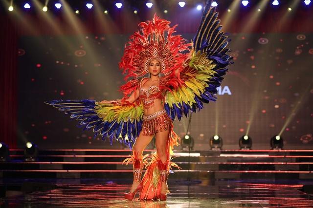 Những bộ trang phục dân tộc do các thí sinh trình diễn được thiết kế vô cùng tinh xảo và kĩ lưỡng mang từng nét riêng của mỗi quốc gia, lãnh thổ.