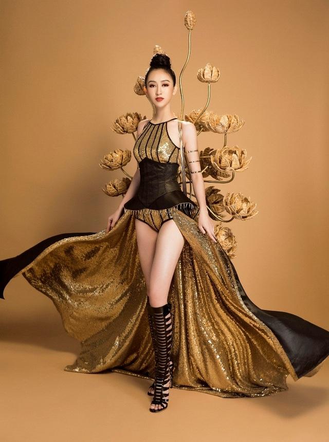 """Đại diện Việt Nam sẽ tham gia phần thi trang phục truyền thống với bộ trang phục """"Chiến Binh Hoa"""" vào ngày 30/10"""