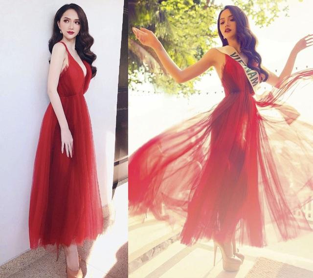 Trong suốt hành trình tham gia Miss International Queen 2018, Hương Giang Idol gắn liền với màu đỏ từ ngày đầu di chuyển ra sân bay đến tận đêm chung kết. Trong ảnh, người đẹp ghi điểm nhờ chiếc váy voan xếp lớp nhẹ nhàng, vừa thanh thoát vừa quyến rũ.