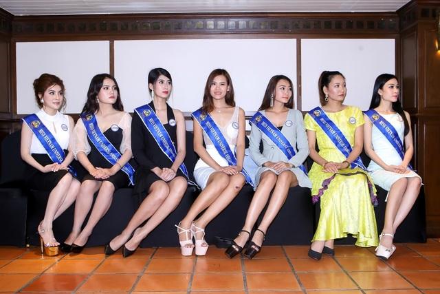Những hình ảnh của thí sinh tại cuộc thi Hoa hậu Đại sứ Hoàn vũ Người Việt 2018