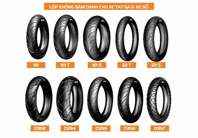 DPLUS là sản phẩm lốp xe máy không săm đầu tiên và duy nhất được sản xuất trên công nghệ lốp ô tô tiên tiến nhất trên thế giới.