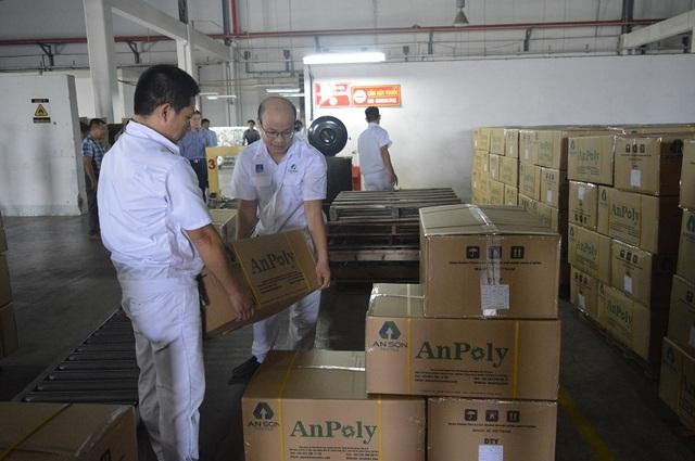 Công suất hàng tháng của AnPoly sẽ đạt 400 tấn/tháng và trước mắt sẽ phục vụ nhu cầu của thị trường dệt may trong nước và dự kiến xuất khẩu sang Nhật Bản, Hàn Quốc, Pakistan.