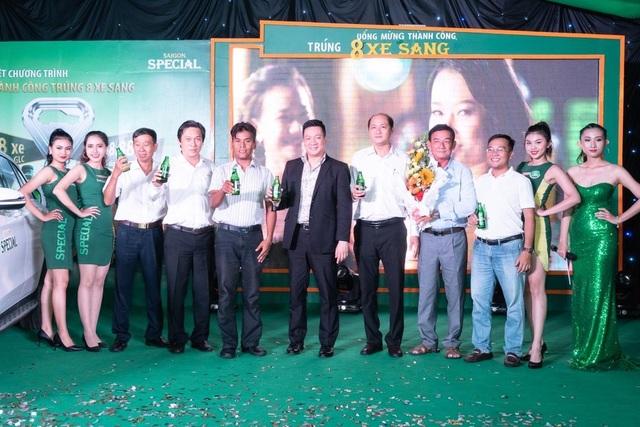 Anh Chan Đa tại buổi lễ trao giải của nhãn hàng Bia Saigon Special