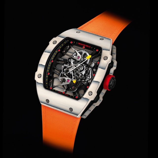 Kiệt tác RM 27-02 Tourbillon Rafael Nadal - chiếc đồng hồ siêu nhẹ 21 gram với bộ chuyển động phức tạp, kết cấu vỏ cực kì ấn tượng.