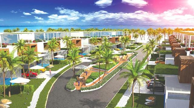Biệt thự biển nghỉ dưỡng tầm trung tỏ rõ nhiều ưu thế hút giới đầu tư Ảnh: LN