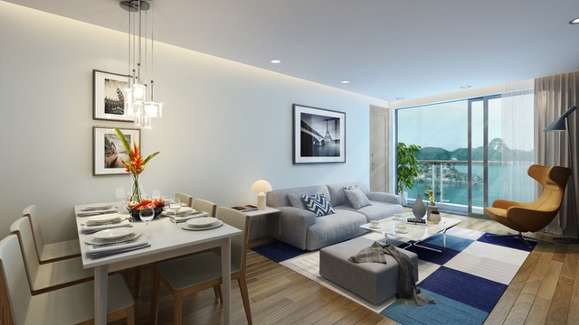 Căn hộ có tầm nhìn hướng biển của Green Bay Premium nhận được sự quan tâm của nhiều khách hàng và nhà đầu tư.