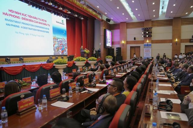 """Hội nghị xúc tiến đầu tư thành phố Hải Phòng năm 2016 với chủ đề """"Hải Phòng - Điểm đến của nhà đầu tư"""""""