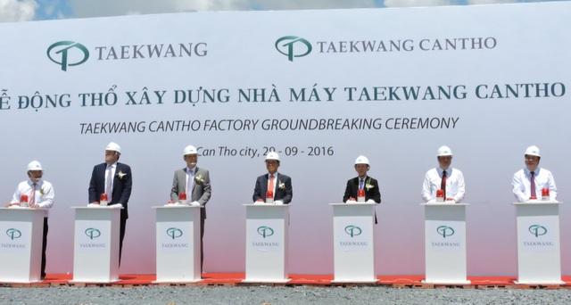 Nghi thức khởi công công ty Taewkang Cần Thơ