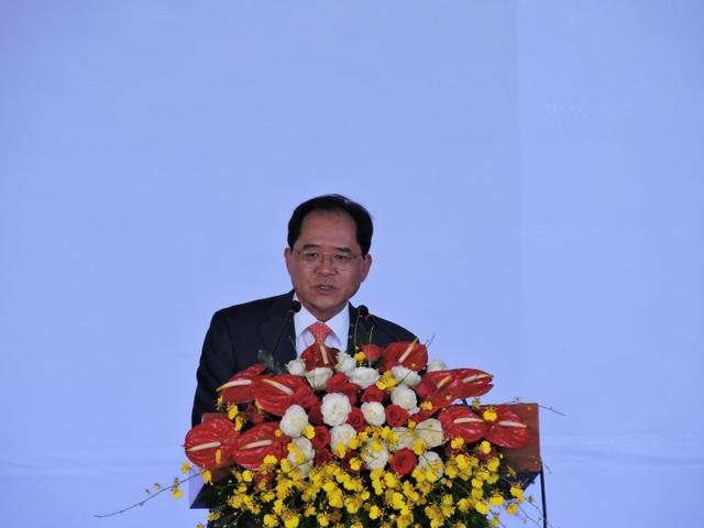 Tổng lãnh sự quán Hàn Quốc tại TP. Hồ Chí Minh Park Noh Wan phát biểu tại buổi lễ