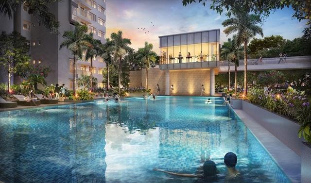 Phối cảnh hồ bơi dự án The Habitat
