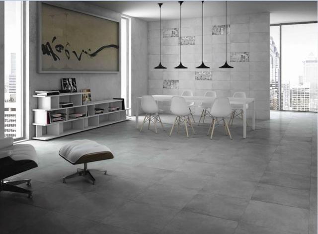 Gạch sàn Prime phong cách tối giản vận dụng sự phản sáng khác nhau