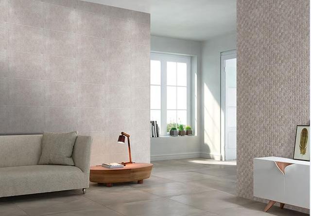 Gạch ốp lát Prime theo phong cách tối giản sử dụng tại phòng khách